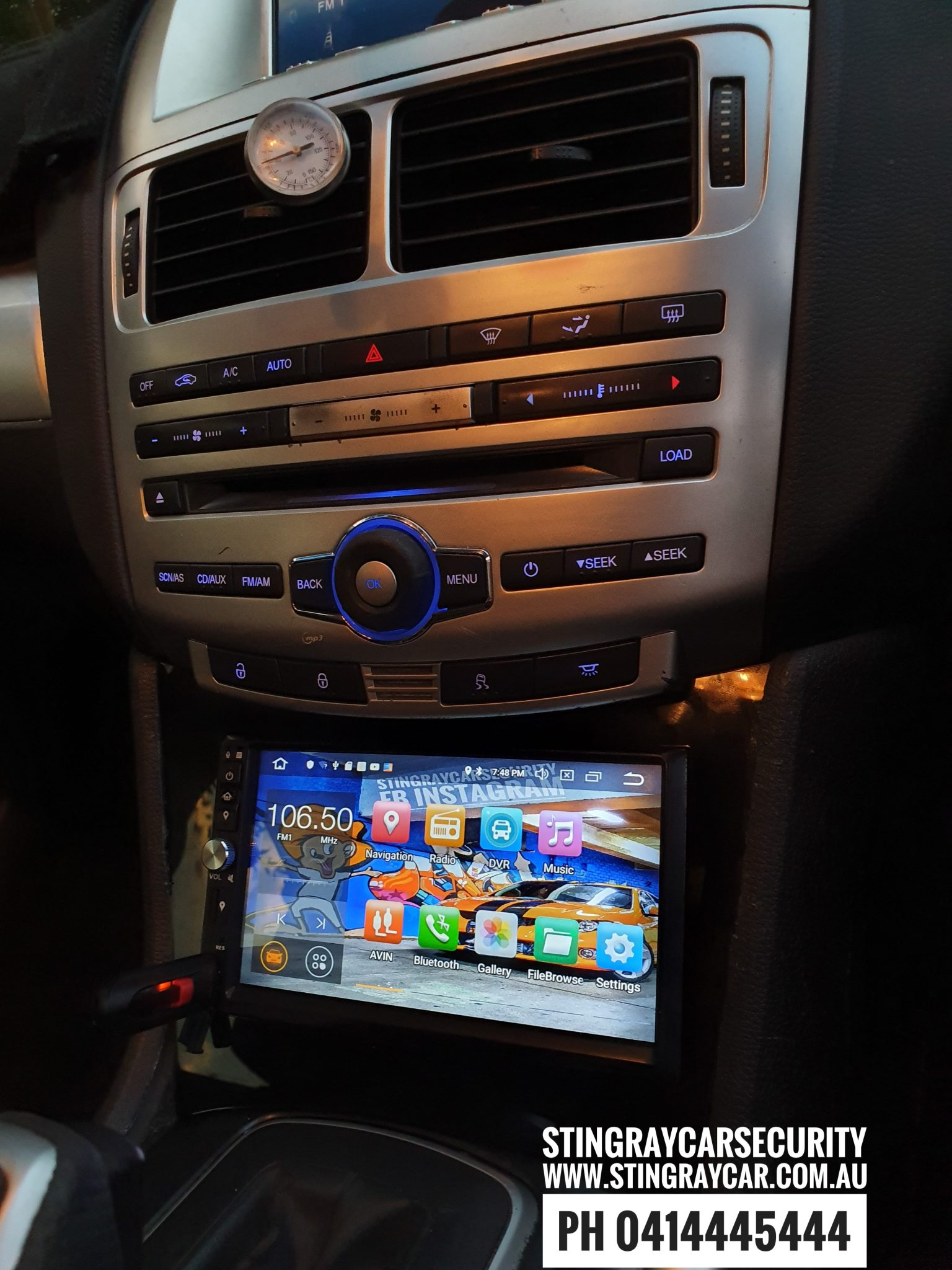 Ford fg to fgx satnav multimedia double din android and fascia kit
