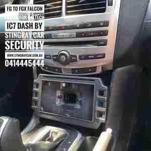 Fg to Fgx falcon fascia for Haltech IC7 Dash by Stingray Car Security www.stingraycar.com.au 0414445444